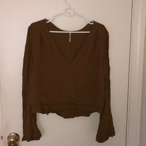 Free People blouse with flared sleeves!